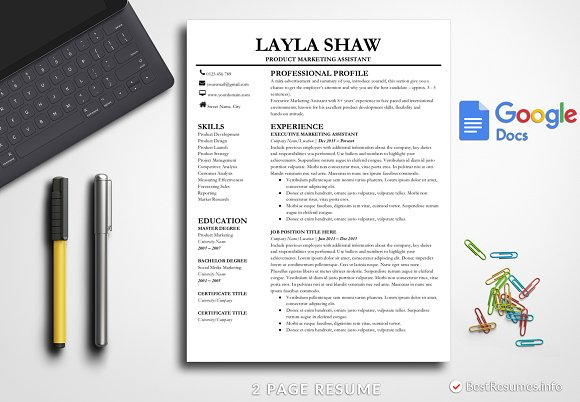 resume template google docs resume templates creative market