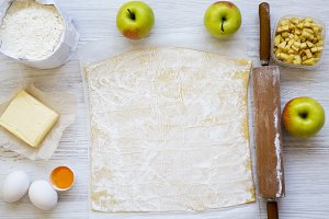 Apple pie or strudel ingredients