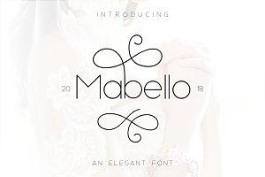 Mabello font