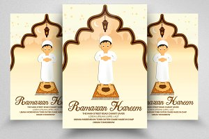 Ramadan kareem Salaat Flyer Template
