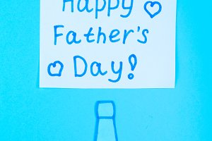 Postcards on the theme of Father's Day. June 17.