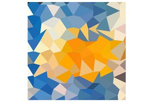 Azure Blue Abstract Low Polygon Back