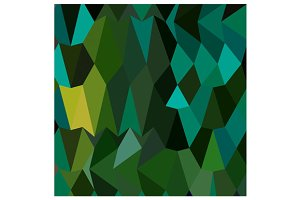 Brunswick Green Abstract Low Polygon