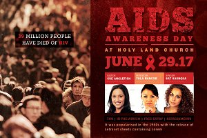 AIDS Awareness Church Flyer Template