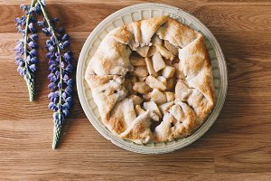 Peach Tart with Lupine