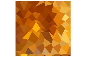 Gamboge Yellow Abstract Low Polygon
