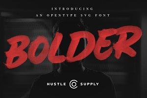 BOLDER - Smallcaps SVG Brush Font
