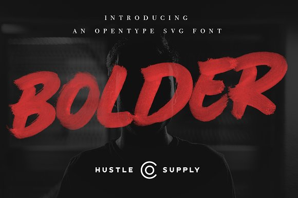 BOLDER Smallcaps SVG Brush Font