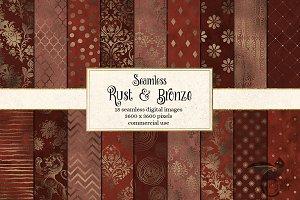 Rust and Bronze Digital Paper