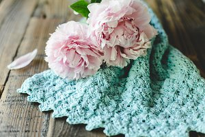 Peonies and Knitwear