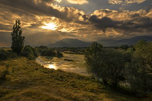 sanset river