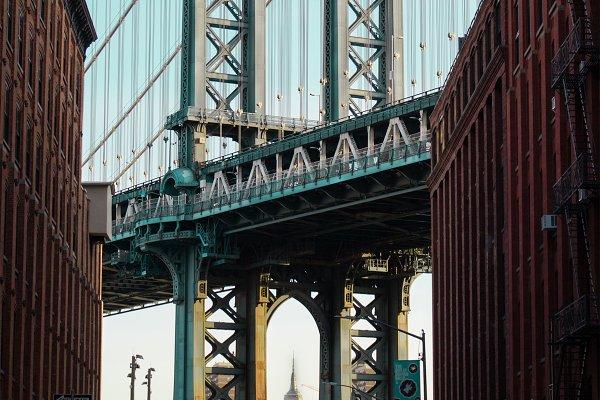 Architecture Stock Photos: smpimagery - Manhattan Bridge at Sunrise