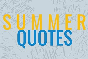 Summer Quotes Hand Lettering