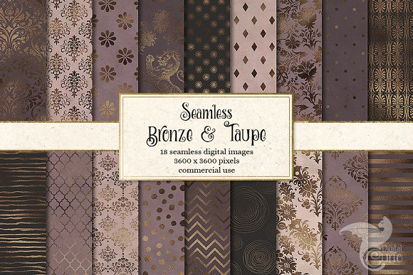 Bronze And Taupe Digital Paper