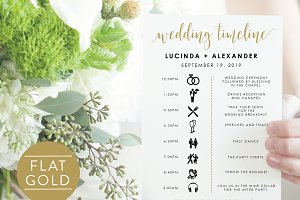 Wedding Timeline - Editable PDF