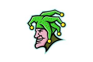 Harlequin Head Side Mascot