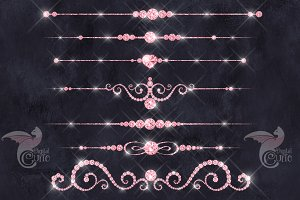 Pink Diamond Dividers Clipart