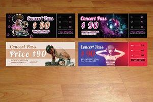 4 Music & Concert Tickets / Pass