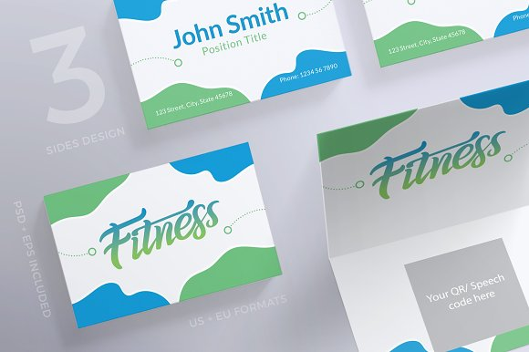 Business Cards Fitness Centre