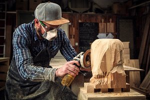 Carpenter saw sculpture