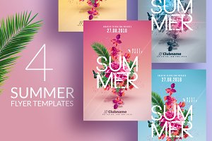 Summer Party | 4 Flyers Templates