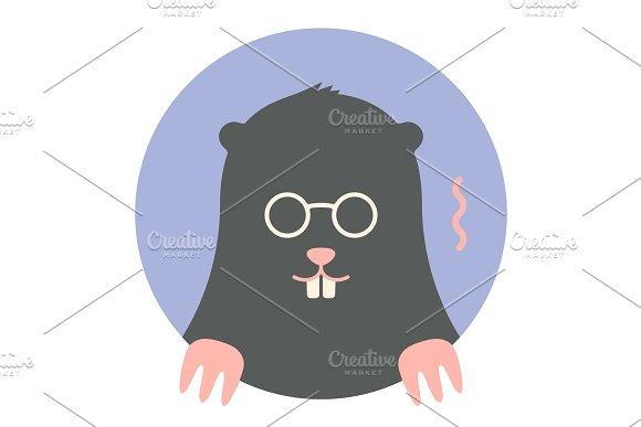 Icon Of Black Mole