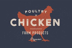 Chicken, poultry. Poster