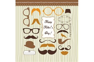 Father's Day Mustache Card