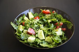Summer salad with fresh vegetables