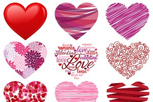 Valentine Hearts Vectors & Clipart