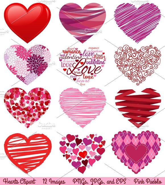 Valentine Hearts Vectors & Clipart ~ Illustrations ...