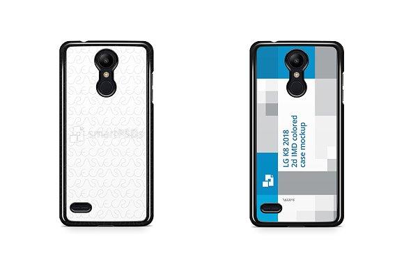 LG K8 2018 2d PC Colored Case Mockup