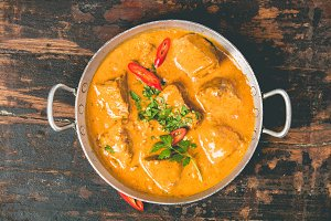 Curry and ingredients