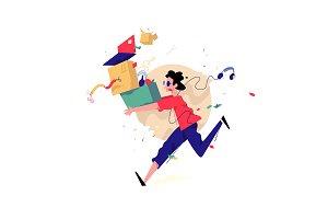 Illustration of a running man!