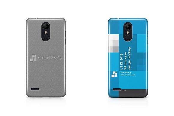 LG K8 2018 3D IMD Case Design Mockup