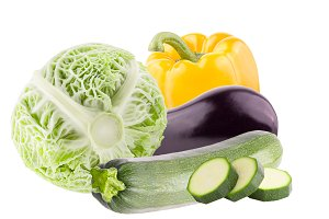 Fresh mix of vegetables isolated