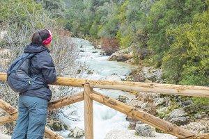 Woman at the bridge