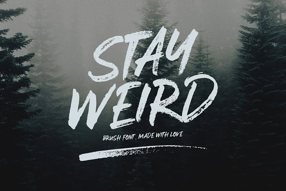 Stay Weird Brush Font Swashes