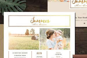 Summer Mini Session Template MS001