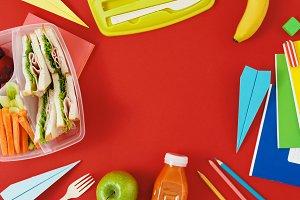 School food background