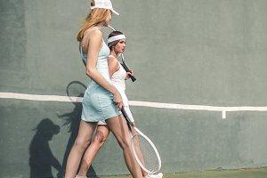 Tennis girls fashion shot