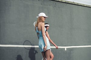 Tennis girl fashion shot