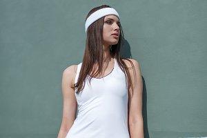 Tennis girl fashion shot
