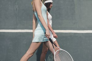 Tennis girls fashion shot