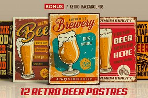 12 Retro beer posters