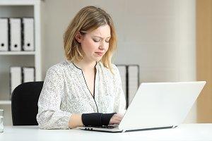 office worker working online