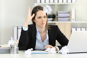 Frustrated executive without inspira