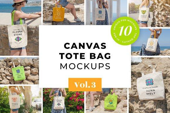Download Canvas Tote Bag Mockups Pack Vol. 3