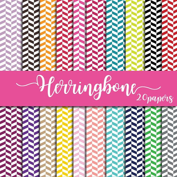Herringbone Digital Paper