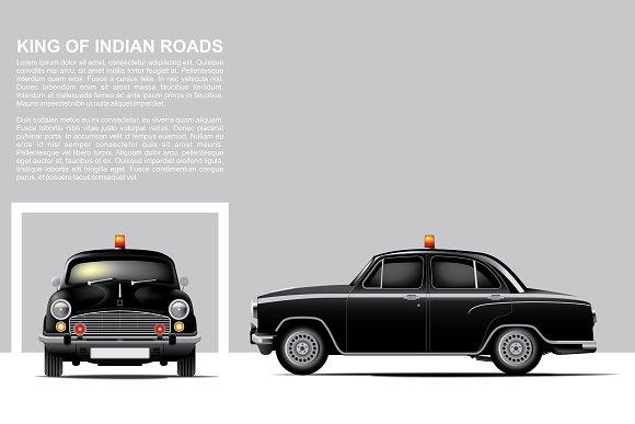 Black Hindustan Police Car